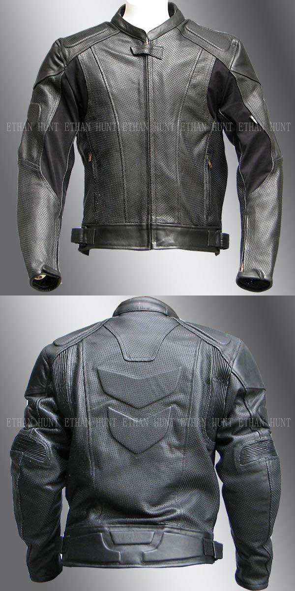 【Clooney】MJ05 本革 パンチング レザージャケット 牛革 メッシュ ライダース メンズ シングル 革ジャケット バイク 皮ジャン アウター ブルゾン 黒 ブラック 送料無料