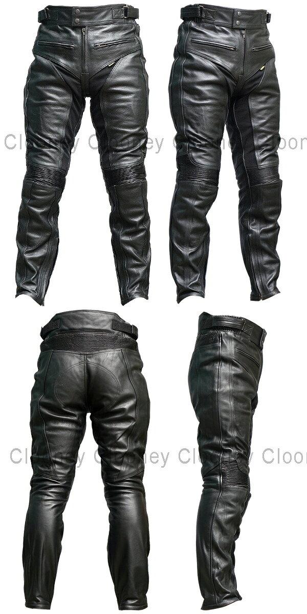 【Clooney】P04 本革 カウハイド レザーパンツ【牛革】ブーツイン メンズ 送料無料
