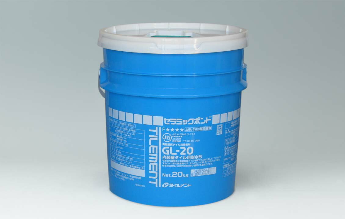 【タイルメント】内装タイル用耐水型接着剤 GL-20/20kg
