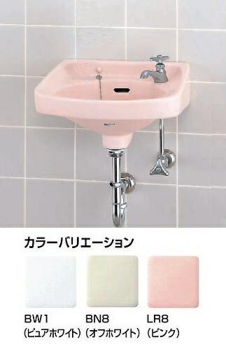 INAX 平付大型手洗器(床排水セット)L-80AG/BN8-SトラップSET付属金具:立水栓(LF-1)、止水栓(LF-3)、排水Sトラップ(LF-10SA)、木ネジ(KF-1×2)
