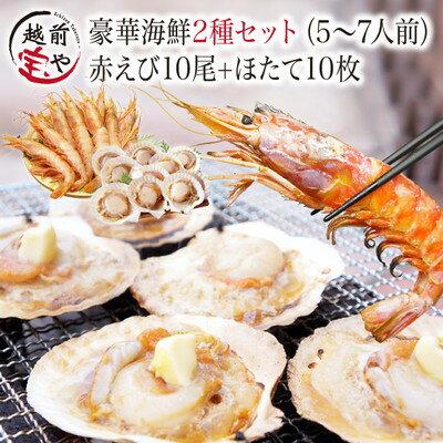 海鮮 バーベキューセット 2種20品 送料無料【冷凍】赤エビ 10尾& ホタテ 10枚【あす楽】海鮮バーベキューセット 海鮮BBQセット