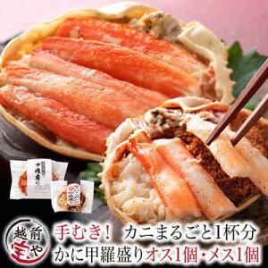 送料無料 カニ 甲羅盛り 食べ比べ カナダ産 ズワイガニ 1個 日本産 セイコガニ 1個 セット かに 蟹 せいこがに ずわいがに  【冷凍】 カニ専門店