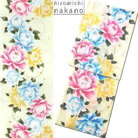 浴衣 hiromichi nakano/ナカノヒロミチ9N-6 綿 プレタゆかた 薄緑/バラ