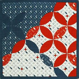 風呂敷 七宝 綿小ふろしき 約50cm 尺三巾 中巾 チーフ ふろしき ナフキン ランチクロス 有織 綿シャンタン生地
