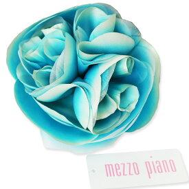 髪飾り MEZZO PIANO メゾピアノ ブルー三重花 コームかんざし 七五三 着物 3歳 7歳 十三参り 成人式 振袖 袴