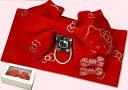 浴衣帯 子供Jr作り帯 HELLO KITTY/ハローキティ 赤 リボン付きゆかた帯