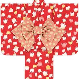 子供浴衣 ツモリ チサト tsumori chisato kids yukata 100 110 120 130 140 150 こどもゆかた 女児 ジュニア 24 レトロ モダン