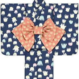 子供浴衣 ツモリ チサト tsumori chisato kids yukata 100 110 120 130 140 150 こどもゆかた 女児 ジュニア 26 レトロ モダン