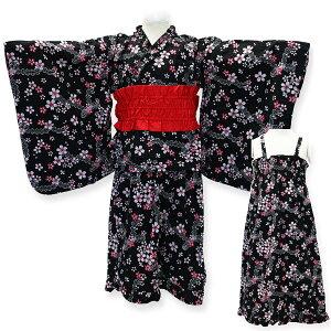 女の子 2WAY 子供浴衣セット 80 90 100 浴衣 結び帯 こども ワンピース サマードレス Kids yukata お仕立て上がり浴衣 サンドレス