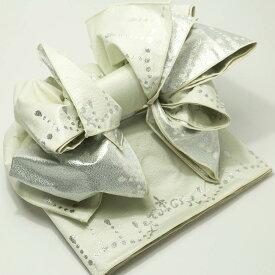 子供 作り帯 シャンデリア 兵児帯 浴衣帯 白 こどもゆかた帯 結び帯 子ども用