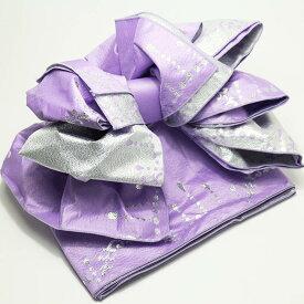 子供 作り帯 シャンデリア 兵児帯 浴衣帯 紫 こどもゆかた帯 結び帯 子ども用