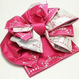 子供 作り帯 シャンデリア 兵児帯 浴衣帯 ピンク こどもゆかた帯 結び帯 子ども用