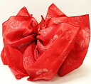 子供浴衣帯 兵児帯 桜赤 こどもゆかた帯