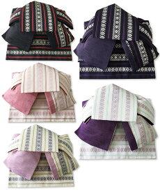 作り帯 浴衣帯 つばめ結び帯 献上柄 両面小袋半幅帯 粋 レトロ ロマン ゆかた帯 ワンタッチ帯