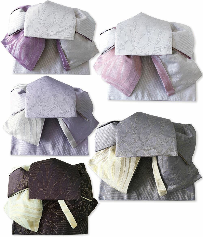 作り帯 浴衣帯 つばめ結び帯 大花 両面小袋半幅帯 レトロモダン お太鼓