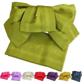 作り帯 浴衣帯 献上 両面小袋半幅帯 つばめ結び帯 送料無料