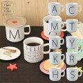 ChatTeaTimeイニシャルマグカップ(10柄)カフェごはんおしゃれイニシャルマグワンポイントパーティーイベントメッセージシンプル