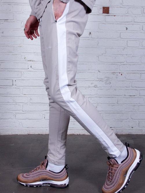ZANEROBE ゼインローブ JUMPSHOT TRACK PANT PUTTY/WHITE ジョガー パンツ リラックス ジャンプショット トラックパンツ ラインパンツ ジャージ パンツ