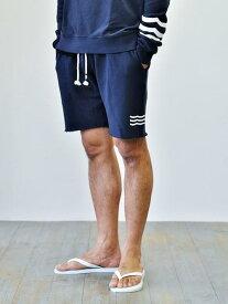 Sol Angeles ESSENTIALS  3LINE WAVE  NAVY ソルエンジェルス エッセンシャル メンズ カットオフ ショーツ サーフ ショートパンツ スェットパンツ