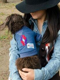 DOG用 犬服 犬 人気 オルテガ インディアン ブランケット柄 ドッグウェアー ドッグ用 インディゴ クルーネックトレーナー スェット 犬用 トレーナー 散歩 ブランド