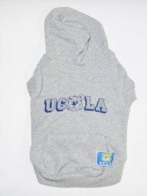 (ペアH犬用) DOG用 UCLA 公認 DOG & ME ペアルック スェット パーカー カレッジ 飼い主と お揃い ドッグウェアー 犬用服 グレー色 人気 ブランド 散歩 ドッグウェアー