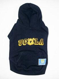 (ペア K 犬用)DOG用 UCLA 公認 DOG & ME ペアルック おしゃれ スェット パーカー カレッジ 飼い主と お揃い ドッグウェアー 犬用服 ネイビー 犬服 散歩 人気