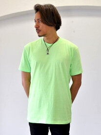NEXT LEVEL NEON TEE GREEN アメリカ直輸入品 ちょい長め 蛍光色 ネオンカラー ちょい出し 可能な 着丈長め メンズTシャツ ロング T 蛍光グリーン