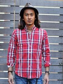J ・CREW(J CREW)  USA SLIM FIT CHECK アメリカ ジェイクルー チェックシャツ  薄手シャツ 赤チェック 輸入品 スリムフィット