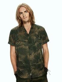 SCOTCH&SODA Tencel Hawaii Shirt スコッチアンドソーダ カモフラージュ アロハ メンズシャツ 半そで オリーブ 迷彩 カモフラ