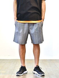ZANEROBE Tailo Plaid Short Grey ゼインローブ ハーフパンツ  メンズ ショートパンツ モノトーン チェック半ズボン リボンベルト