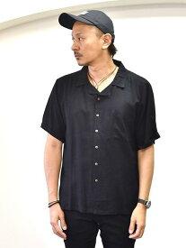 Raga Man HAWAII ラガマン ホワイトアロハシャツ メンズアロハシャツ 無地 開襟シャツ k黒半袖シャツ 半袖シャツ