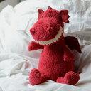 Jellycat Toothy Dragon TO3DR ジェリーキャット 赤い 怪獣 ふわふわ ぬいぐるみ ギフト 癒し プレゼント お祝い 出産祝い 誕生日 最高級 縫いぐるみ 恐竜 かいじゅう 正規代理店 輸入品