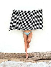 SLOWTIDE Rook Beach Towel スロータイド ビーチタオル チェッカー デザイン 大判バスタオル ラグ 白黒