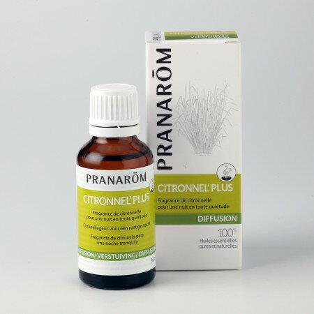 プラナロム シトロネラプラス 30ml 02583 エアフレッシュナー ( 芳香剤 ) ケモタイプ 精油 ( エッセンシャルオイル アロマオイル )のみをブレンド。 虫よけ 蚊よけ 天然 自然 オーガニック ( PRANAROM ) ( 送料無料 ) ルームコロン