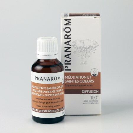 プラナロム メディテーション 30ml 02588 エアフレッシュナー ( 芳香剤 ) ケモタイプ 精油 ( エッセンシャルオイル アロマオイル )のみをブレンド。芳香器などでお使いください。天然 自然 オーガニック プラナロム ( PRANAROM )送料無料 ルームコロン