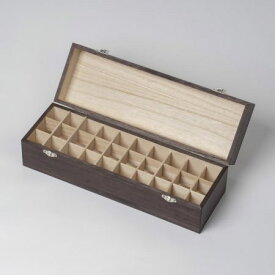 【新タイプ:ツヤ無し】アロマオイルボックス オイルボックス (大) 30本用 00202 精油を収納 保管 保存する桐製の箱。取っ手なし。 健草医学舎 KENSO ケンソー 送料無料