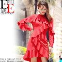 ワンピース 赤 結婚式 服装 パーティードレス 長袖 ショート ミニ フリル シースルー レース 刺繍 ドレス 大人 上品 清楚 セクシー ワンピース セクシーワンピース ワンピ セクシーワンピ タイトワンピ 大きいサイズ 30代 40代 韓国 秋冬 春 おしゃれ 大人可愛い