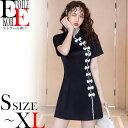 ワンピース セクシー チャイナドレス 大きめ セクシーワンピース ワンピ セクシーワンピ ショート ミニ 大きいサイズ 半袖 ドレス 色気 30代 韓国 ファッション 服 パーティードレス タイト タ