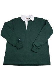 バーバリアン メンズラガーシャツ レギュラーカラー長袖 無地 12oz ヘビーウエイトコットン100% クラシックモデル ボトルグリーン