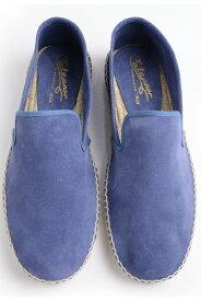 カルザノール メンズ CALZANOR MEN'S 1783 スエードスリッポン ブルー系 エスパドリーユ ジュートサンダル スエードアッパー ラバーソール