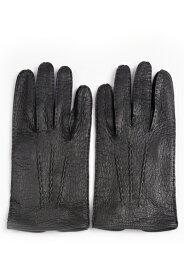 デンツメンズ DENTS 英国王室ご用達ペッカリーレザーグローブ(革手袋、南米の猪豚科)ブラック アウトシーム ノーライニング