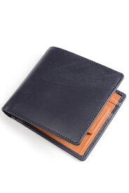 ホワイトハウスコックス s7532 ダービーコレクション 二つ折り小銭入れ付財布 バイカラーモデル フランス産ホースハイド(馬革) 英国製 ネイビー x タン