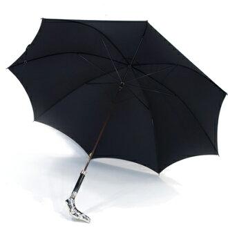 福克斯·伞(FOX UMBRELLAS)动物灰狗方向盘的细长伞(伞,雨伞)GT29型号BLACK(黑色/黑)