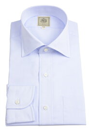 Jプレス メンズ J.PRESS MEN'S ワイドスプレッドカラーシャツ サックスブルー 超長綿糸ブロードクロス イージーアイロン