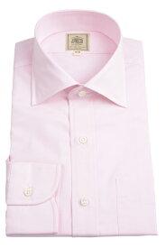 Jプレス メンズ J.PRESS MEN'S ワイドスプレッドカラーシャツ ピンク 超長綿糸ブロードクロス イージーアイロン