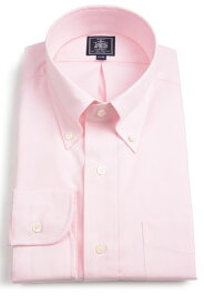 Jプレス メンズ J.PRESS MEN'S ボタンダウンシャツ 超長綿糸エンド・オン・エンド(刷毛目) ピンク プレミアムプリーツ・ウオッシュ アンド ウェア