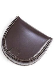 希少性が高い キース kew1223 水染めコードバン 馬蹄形コインケース(小銭入れ トレーパース)チョコブラウン