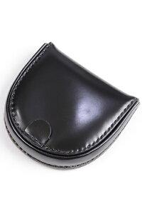 水染めコードバン 馬蹄形コインケース(小銭入れ トレーパース)ブラック キース kew1223 希少性あり