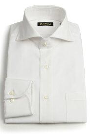 ポールスチュアート メンズ PAUL STUART ワイドカラーシャツ ホワイト ロイヤルオックス 形態安定加工ドレスシャツ