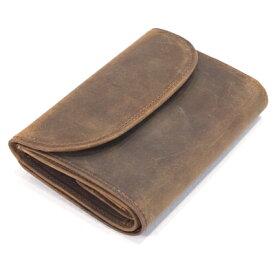 セトラー(SETTLER)WHCのセカンドライ ワンワールドコレクション ヌバックタイプ オイルドレザー OW1112 三つ折コインケース付財布(3FOLD WALLET)BROWN(ブラウン)